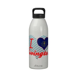 Amo Covington, Indiana Botella De Agua