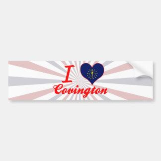 Amo Covington, Indiana Pegatina De Parachoque