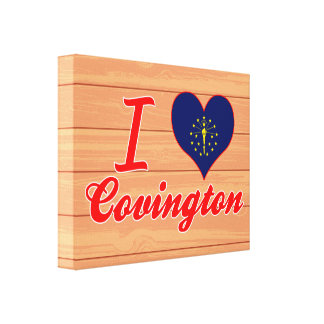 Amo Covington, Indiana Impresion De Lienzo