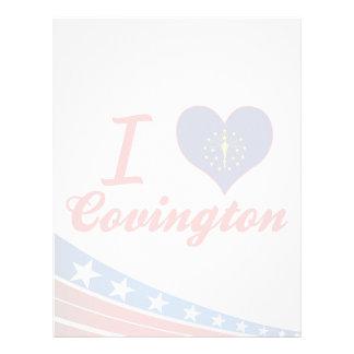Amo Covington, Indiana Membrete A Diseño