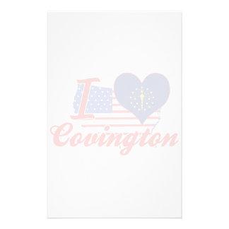 Amo Covington, Indiana Papeleria De Diseño