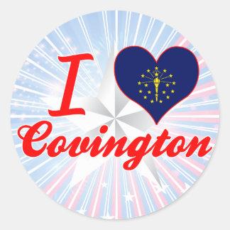 Amo Covington, Indiana Etiquetas