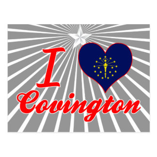 Amo Covington, Indiana Tarjeta Postal