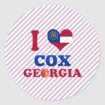 Amo $cox, Georgia Pegatina Redonda