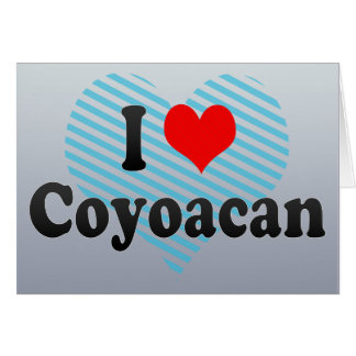Amo Coyoacan, México Tarjeta