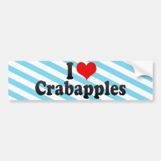 Amo Crabapples Etiqueta De Parachoque