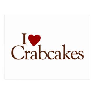 Amo Crabcakes Tarjetas Postales