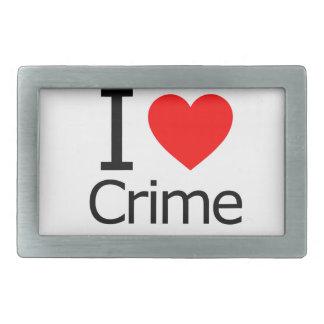 Amo crimen hebillas cinturón rectangulares