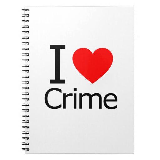 Amo crimen cuaderno