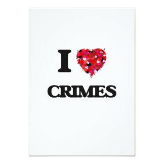 """Amo crímenes invitación 5"""" x 7"""""""