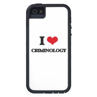 Amo criminología iPhone 5 fundas