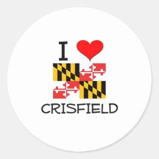 Amo Crisfield Maryland Etiqueta Redonda