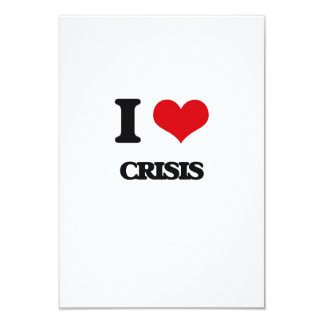 """Amo crisis invitación 3.5"""" x 5"""""""