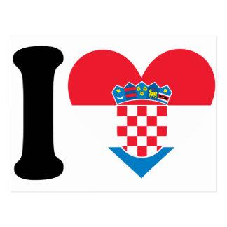 Amo Croacia Tarjetas Postales