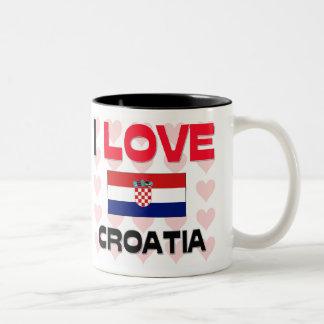 Amo Croacia Tazas De Café