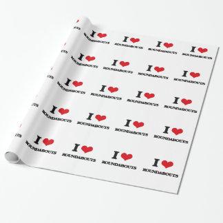 Amo cruces giratorios papel de regalo