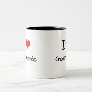 Amo crucigramas taza