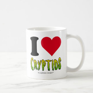 Amo Cryptids Taza Básica Blanca