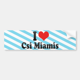 Amo Csi Miamis Pegatina Para Auto