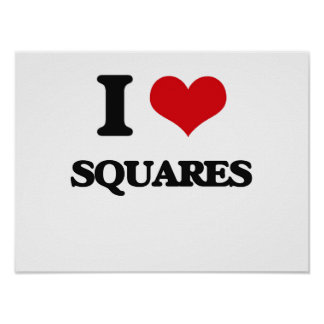 Amo cuadrados póster