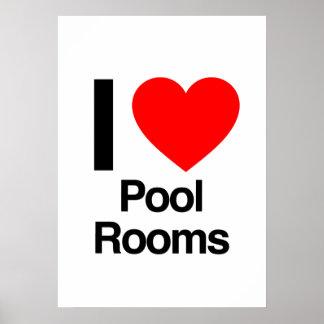 amo cuartos de piscina poster