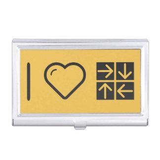 Amo cuatro flechas caja de tarjetas de presentación