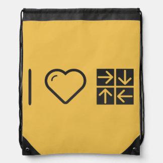 Amo cuatro flechas mochilas