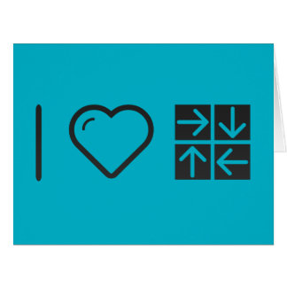 Amo cuatro flechas tarjeta de felicitación grande