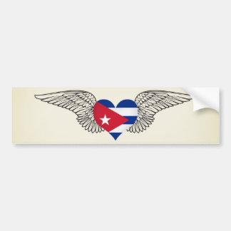 Amo Cuba - alas Etiqueta De Parachoque