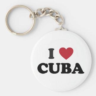 Amo Cuba Llavero Redondo Tipo Pin