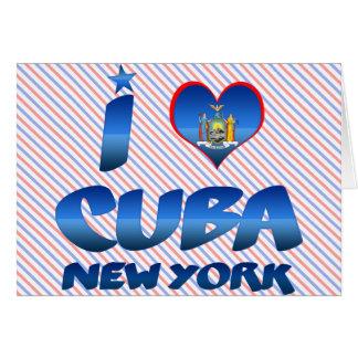 Amo Cuba Nueva York Felicitacion