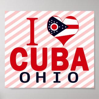 Amo Cuba Ohio Poster