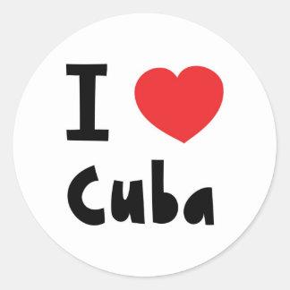 Amo Cuba Pegatina Redonda