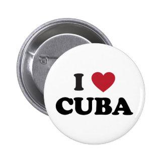 Amo Cuba Pin Redondo De 2 Pulgadas