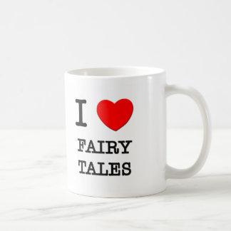 Amo cuentos de hadas tazas de café