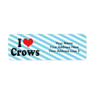 Amo cuervos etiquetas de remite