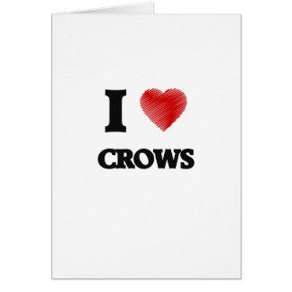 Amo cuervos tarjeta de felicitación