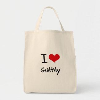 Amo culpable bolsas de mano