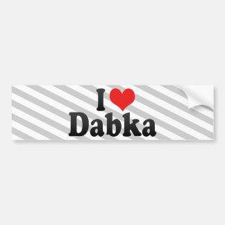 Amo Dabka Etiqueta De Parachoque