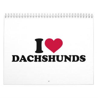 Amo Dachshunds Calendario