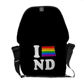 AMO DAKOTA DEL NORTE GAY - BLANCO - PNG BOLSAS DE MENSAJERIA