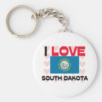 Amo Dakota del Sur Llavero Personalizado
