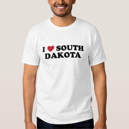 Amo Dakota del Sur Playeras