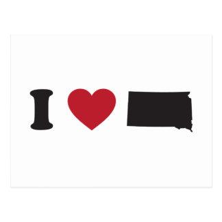Amo Dakota del Sur Postal