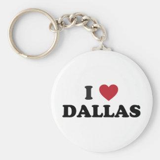 Amo Dallas Tejas Llaveros