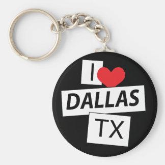 Amo Dallas TX Llavero Redondo Tipo Pin