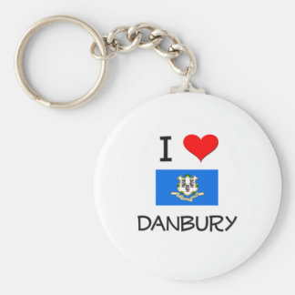 Amo Danbury Connecticut Llavero Redondo Tipo Pin