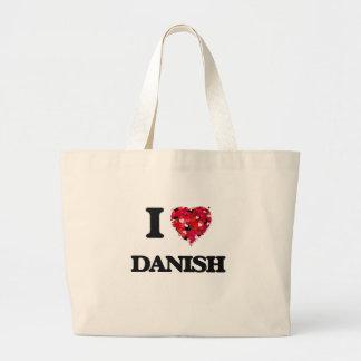 Amo danés bolsa tela grande