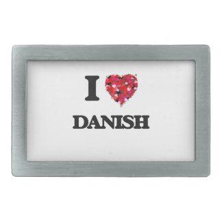 Amo danés hebilla de cinturón rectangular