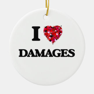 Amo daños adorno redondo de cerámica